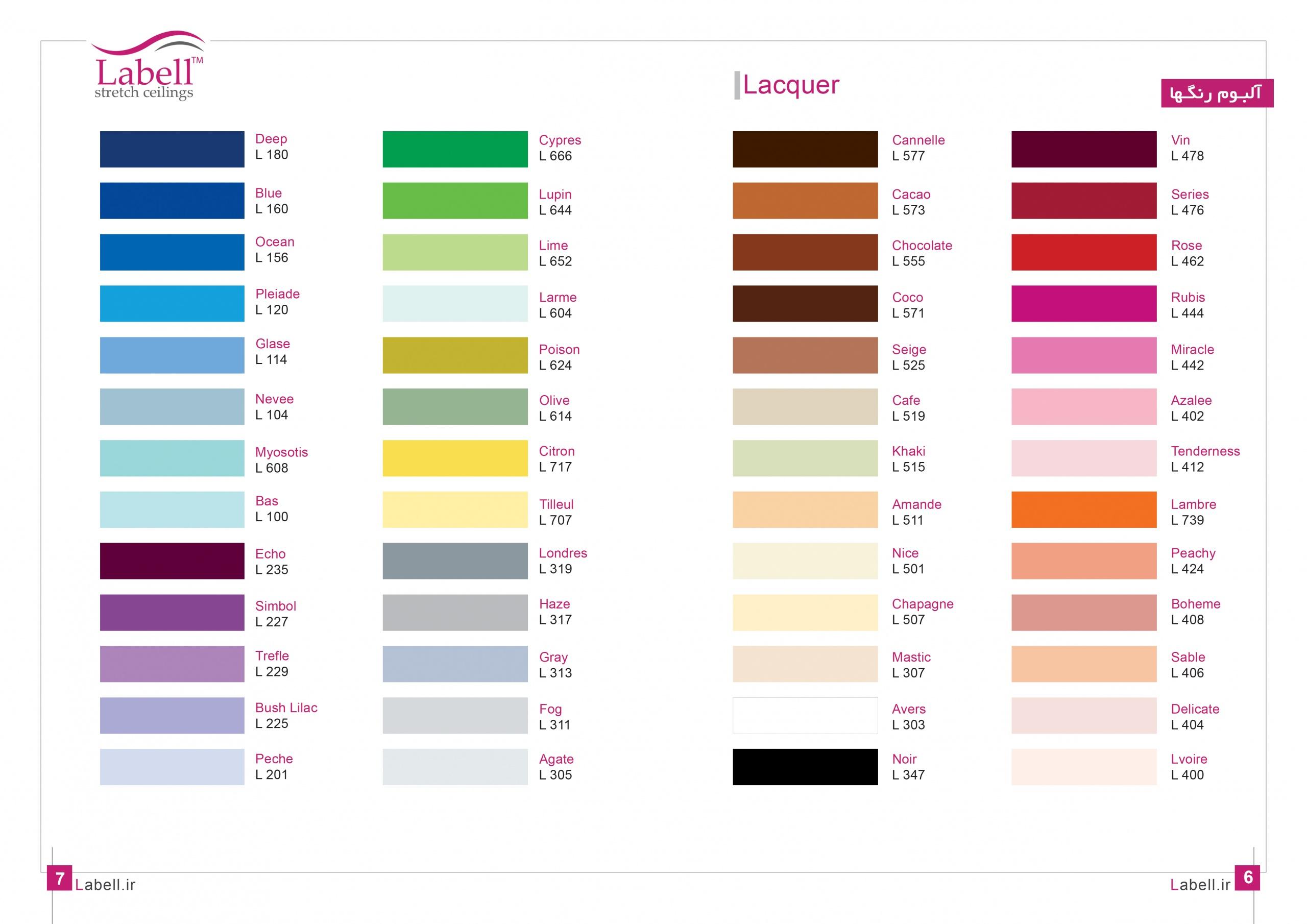 رنگبندی متریال لاکر سقف لابل