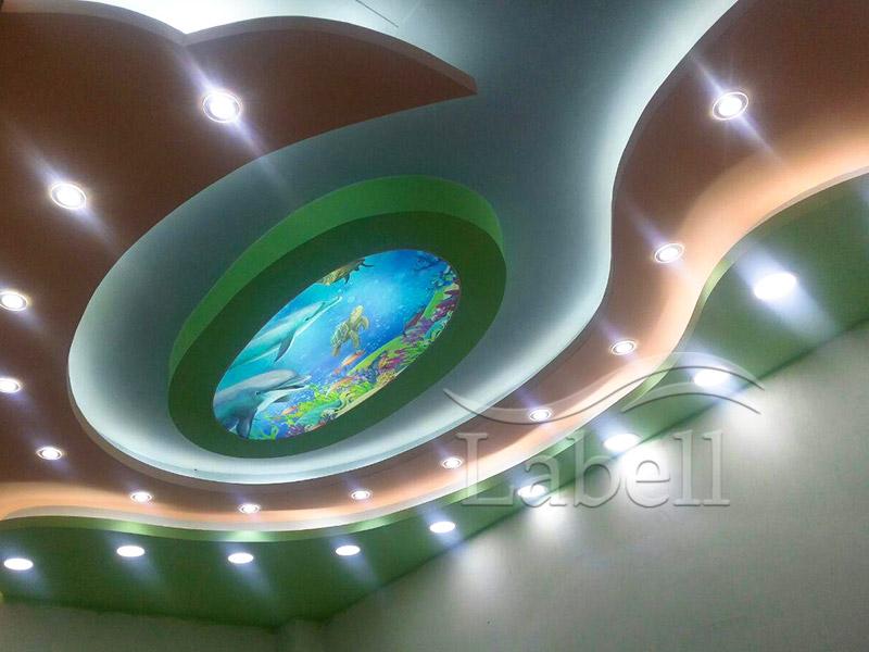 اجرای سقف کششی لابل در شرکت معماری آغ دام تبریز
