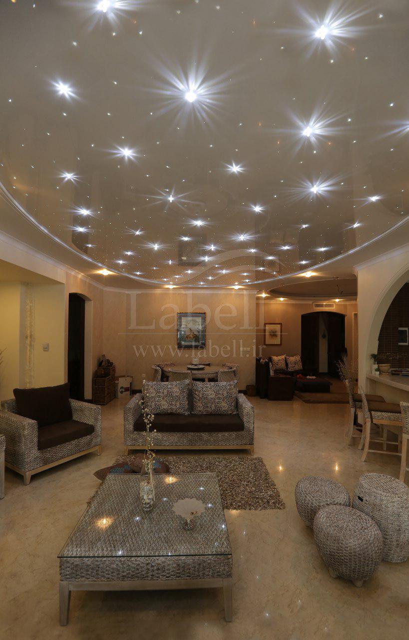 سقف کشسان با نورپردازی کریستال