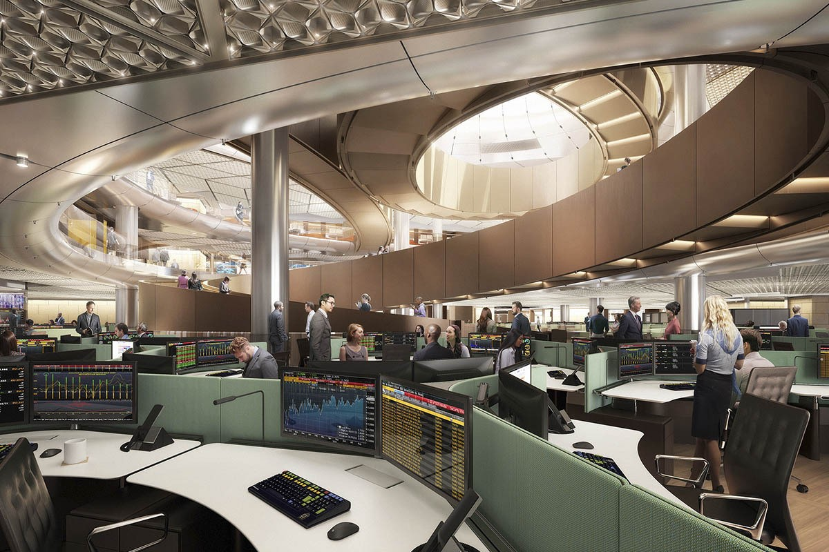 معماری باستانی در دفتر بلومبرگ لندن