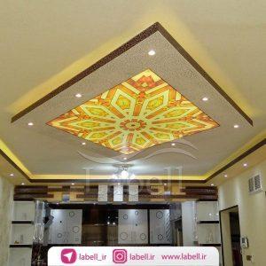 سقف کششی چاپی همراه با نورپردازی