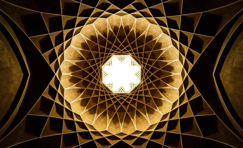 سقف زیبای عمارت بادگیر واقع در یزد