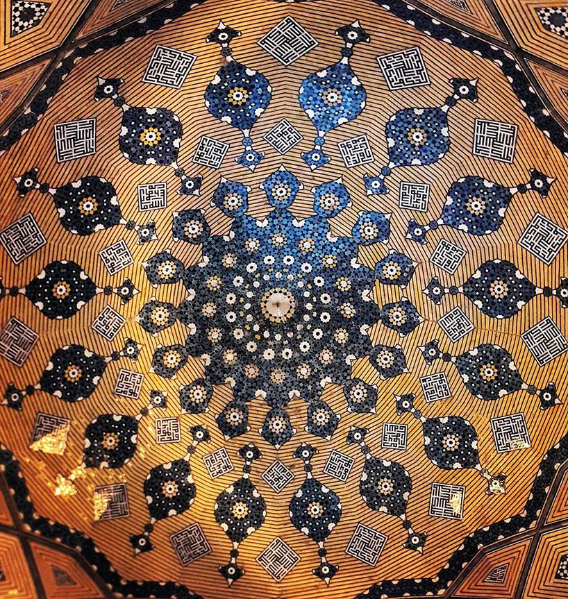 سقف مدرسه چهارباغ اصفهان