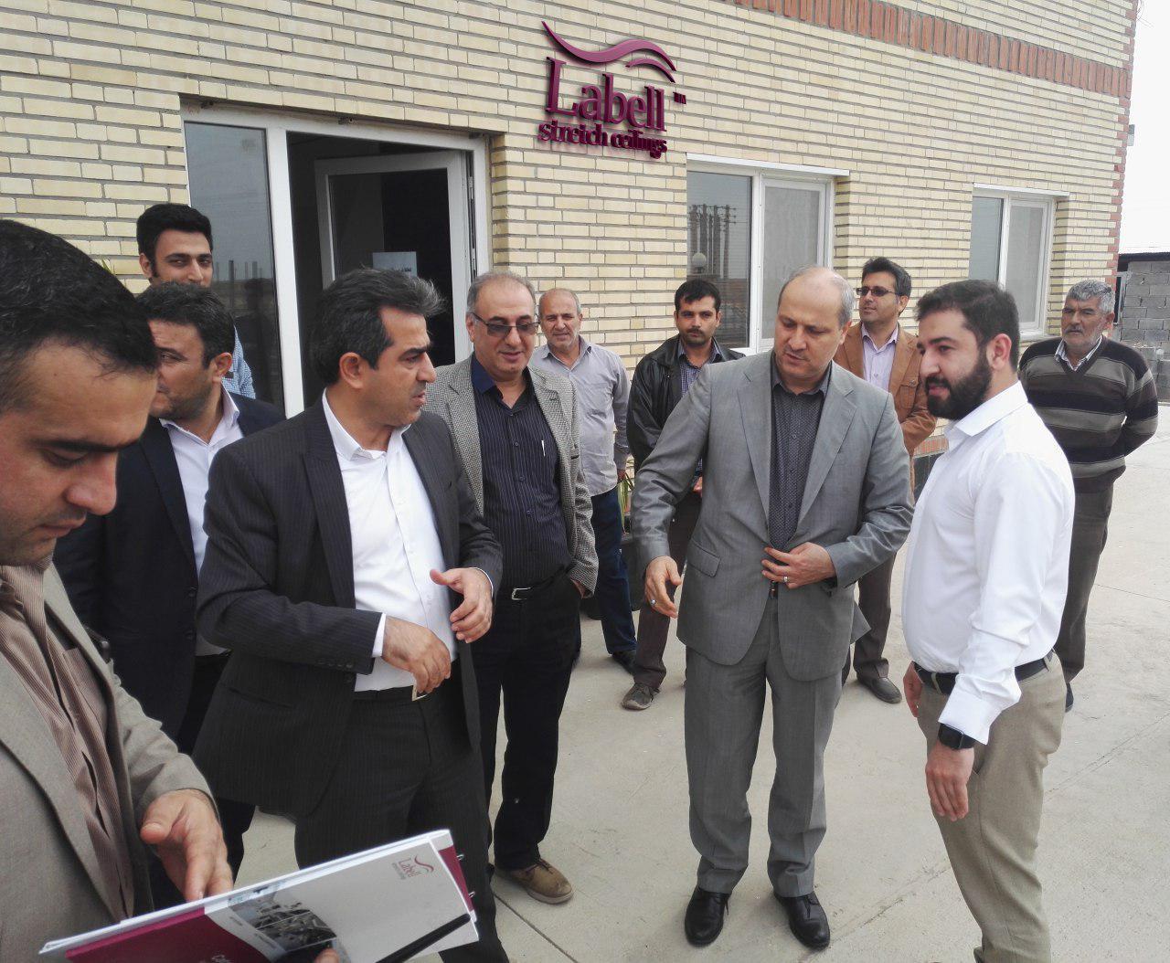 بازدید استاندار جدید استان گلستان از کارخانه گروه صنعتی لابل