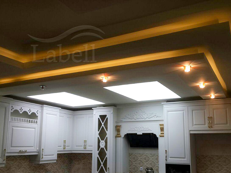 سقف کشسان لابل در آشپزخانه