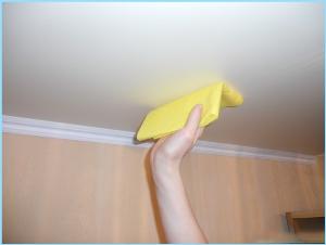 چگونه سقف کشسان را تمیز کنیم؟