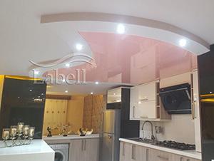 دکوراسیون آشپزخانه مدرن با سقف کشسان