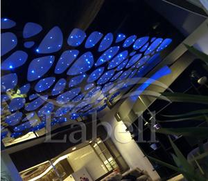طراحی دکوراسیون دفتر کار با نصب سقف کشسان