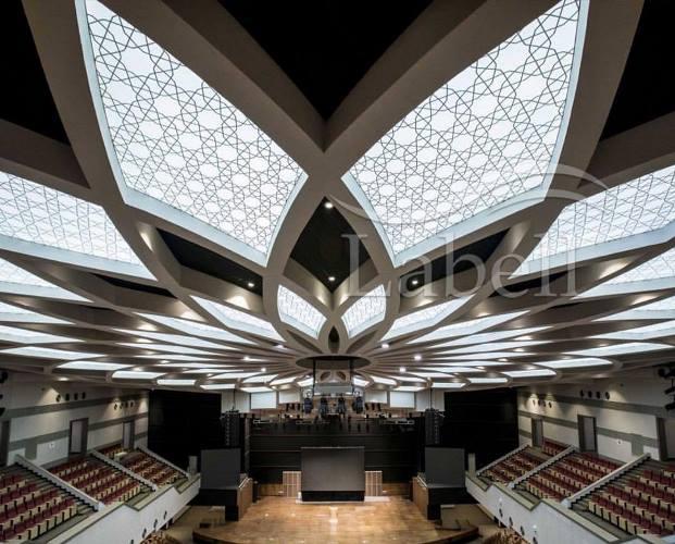 سالن آمفی تئاتر وزارت کشور سقف کشسان تهران