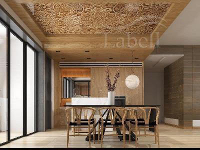 سقف کشسان طرح چوب