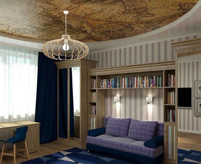 دکوراسیون داخلی با سقف کشسان لابل