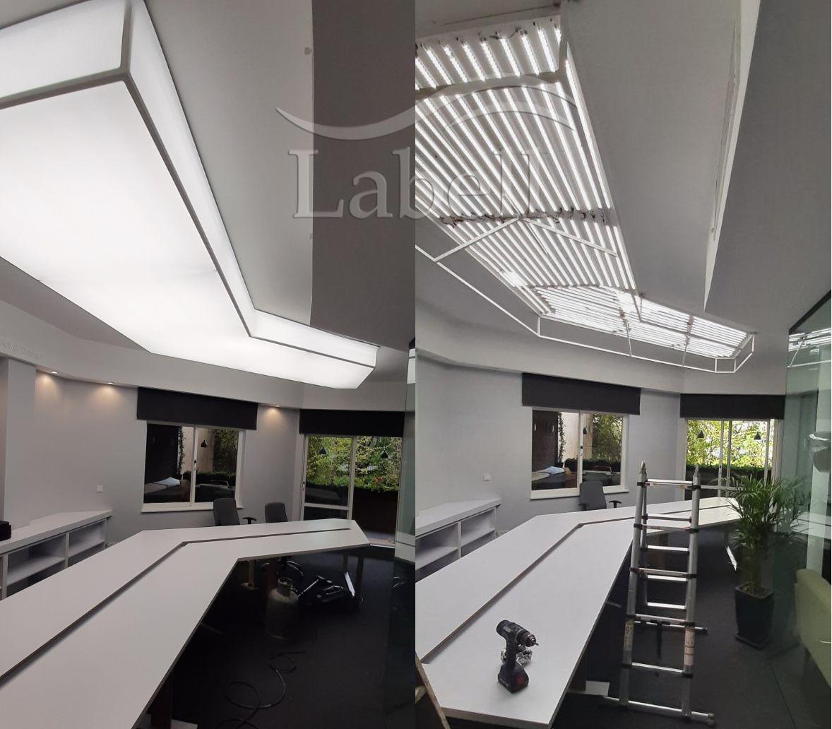 led لنز دار روشنایی سقف کشسان