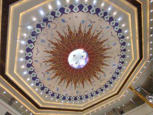 سقف لابل در سرامیک سنتر یزد ( ایوان مال میبد )